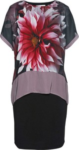 Sukienka bonprix bpc selection mini z dżerseju z krótkim rękawem