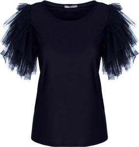 Czarna bluzka TOVA z tiulu