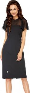 Czarna sukienka Lemoniade z szyfonu midi