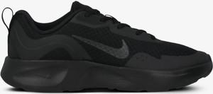Czarne buty sportowe Nike sznurowane z płaską podeszwą ze skóry