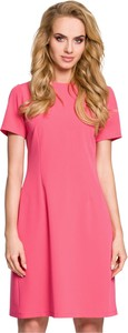 Różowa sukienka MOE z krótkim rękawem mini