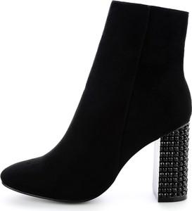 Czarne botki Prima Moda na zamek