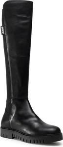Czarne kozaki Tommy Jeans za kolano