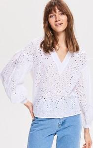 Bluzka Reserved z długim rękawem w stylu retro