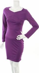 Fioletowa sukienka Burlady mini prosta