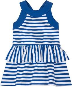 Niebieska sukienka dziewczęca Mayoral