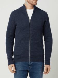 Granatowy sweter Redefined Rebel w stylu casual ze stójką