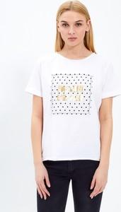 T-shirt Gate z krótkim rękawem z bawełny z okrągłym dekoltem