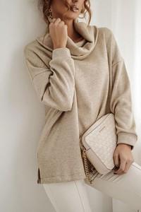 Sweter Shopaholics Dream z dzianiny w stylu casual