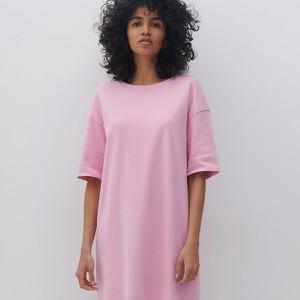 Różowa sukienka Reserved z krótkim rękawem oversize