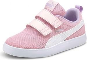 Różowe trampki dziecięce Puma ze skóry dla dziewczynek