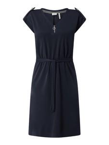 Sukienka S.Oliver Black Label mini z dekoltem w kształcie litery v z krótkim rękawem