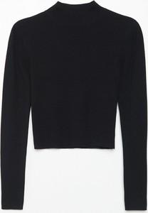 Czarny sweter Cropp