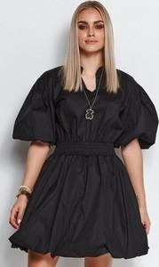 Sukienka Makadamia bombka z bawełny z krótkim rękawem