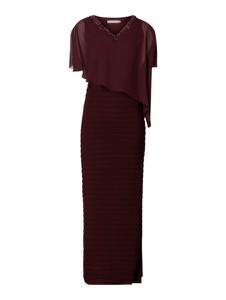 Sukienka Christian Berg Cocktail z długim rękawem z dekoltem w kształcie litery v asymetryczna