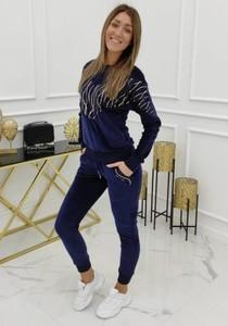 Granatowe spodnie Vittoria Ventini