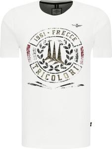 T-shirt Aeronautica Militare z krótkim rękawem w młodzieżowym stylu
