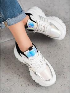 Buty sportowe Shelovet ze skóry sznurowane