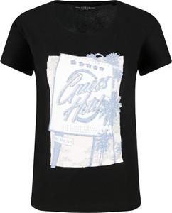 T-shirt Guess z krótkim rękawem w stylu casual z okrągłym dekoltem