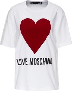 T-shirt Love Moschino z krótkim rękawem w młodzieżowym stylu z okrągłym dekoltem