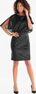 Czarna sukienka YESSICA ołówkowa z krótkim rękawem