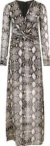 Sukienka Guess by Marciano z jedwabiu z długim rękawem