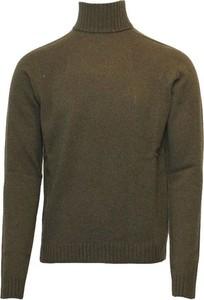 Zielony sweter Mauro Grifoni z kaszmiru w stylu casual