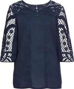 Niebieska bluzka bonprix RAINBOW z długim rękawem