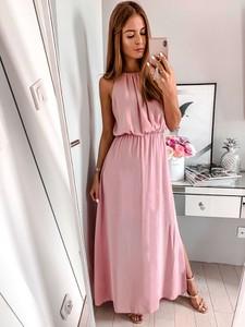 Różowa sukienka L'Amour maxi