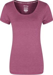 Różowa bluzka Mountain Warehouse z tkaniny z krótkim rękawem