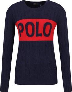 Granatowy sweter POLO RALPH LAUREN z wełny