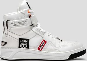 Buty sportowe MSGM z płaską podeszwą sznurowane