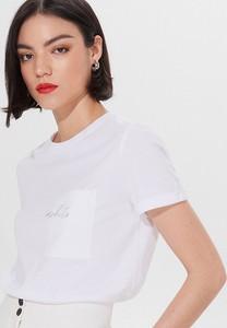 T-shirt Mohito z okrągłym dekoltem w młodzieżowym stylu z bawełny