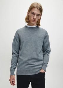 Sweter Calvin Klein w stylu casual z okrągłym dekoltem z wełny