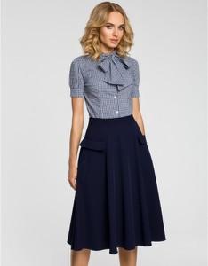 Niebieska spódnica MOE midi