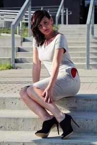 Sukienka Szarymary sportowa z bawełny z okrągłym dekoltem