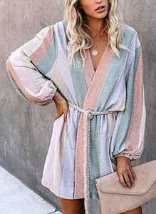 Sukienka Sandbella prosta w stylu boho mini
