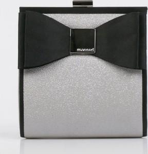 Srebrna torebka Monnari mała w stylu glamour z kokardką