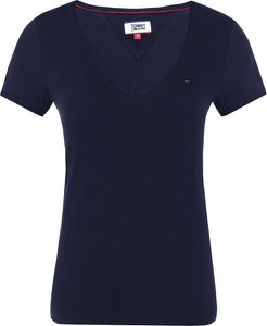Niebieska bluzka Tommy Jeans z krótkim rękawem z dżerseju