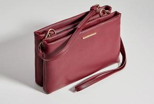 Czerwona torebka Mohito średnia matowa