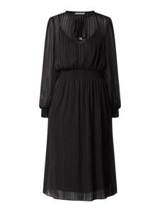 Sukienka Jake*s Collection midi z szyfonu rozkloszowana