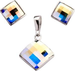 Polcarat Design Komplet srebrny z kryształami Swarovskiego KPL 2 1583 : Kolor - Crystal AB