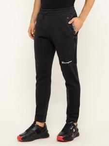 Czarne spodnie sportowe Champion z dresówki