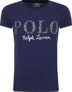 Niebieska koszulka dziecięca POLO RALPH LAUREN z krótkim rękawem