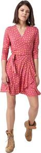 Sukienka RISK made in warsaw z dekoltem w kształcie litery v mini z długim rękawem