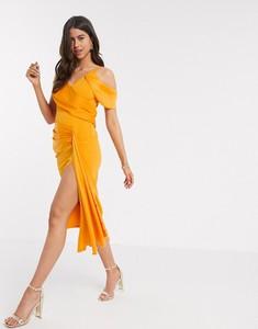 Pomarańczowa sukienka Asos ołówkowa
