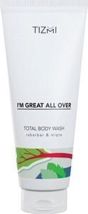 Tizmi, Total Body Wash, żel pod prysznic, Rabarbar&Mięta, 200 ml