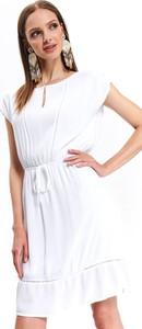 Sukienka Top Secret z okrągłym dekoltem mini z tkaniny