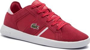 Czerwone buty męskie Lacoste, kolekcja jesień 2019