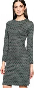 Zielona sukienka L'AF mini w stylu casual z długim rękawem